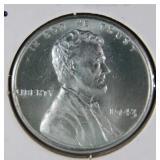 1943 Rare WW2 Lincoln Steel Penny MS68 (A5)