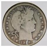 1912 Barber Half Dollar VG10