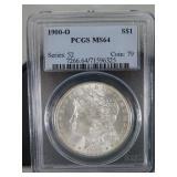 PCGS MS 62 1900-O Morgan Dollar