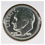1961 Roosevelt Dime PR69