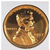 1957 Lincoln Wheat Penny PR69