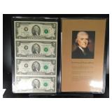 (2) Booklets Of Uncut Sheets Of Legal Tender