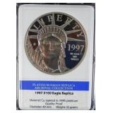 Mint Limited Edition Platinum Eagle Replica