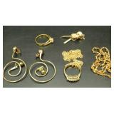 Gold Colored Costume Jewelry