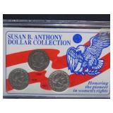 Susan B Anthony Dollar Collection 1979, 1980,