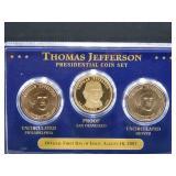 Thomas Jefferson Presidential Coin Set- 2007