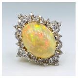 $5,590 Value, Opal & Diamond Ring