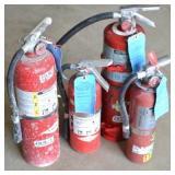 (4) FIRE EXTINGUISHERS