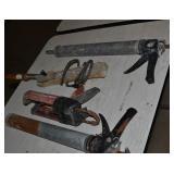 (1) HEAT PLANER (2) CHAULK GUNS (1) HILTI ADHESIVE