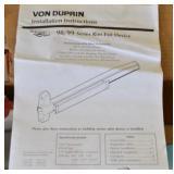 (6) BOXES OF VON DUPRIN DOOR EXIT DEVICES