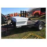 8FT. UTILITY TRAILER/ WITH TOOL BOX