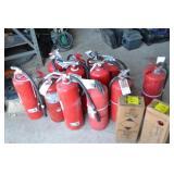 16 FIRE EXTINGISHERS