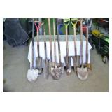 (10) SHOVELS VARIOUS SHAPES AND SIZES