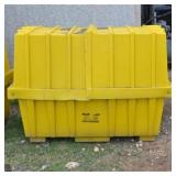 YELLOW OIL DRUM STORAGE CONTAINERS