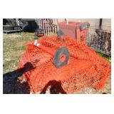 LOT OF SAFETY NETTING AND 2 PYLONS