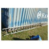 (4) EXTENDABLE LADDERS VARIOUS SIZES