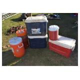 (5) ICE CHESTS/COOLERS
