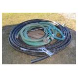 LOT OF HOSES VARIOUS SIZE AND DIAMETER