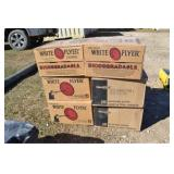 (6) BOXES WHITE FLYER CLAY PIGEONS