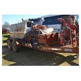 CT FLATBED TRAILER WITH MARCO SANDBLASTER, AIR COM