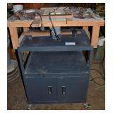 WOOD ROUTER WITH ROLLING CABINETS, ASSORTED