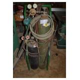 OXYGEN ACETYLENE TANKS WITH CART AND HOSES