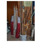 LOT OF OUTDOOR ITEMS, 2 FOLDING CHAIRS, ROPE
