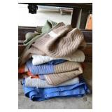 LOT OF TARPS AND CARGO BLANKETS