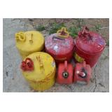 LOT OF ASSORTED FUEL CANS