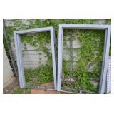 2 METAL WINDOW FRAMES