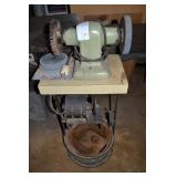 """7"""" BELT DRIVER BENCH GRINDER WITH CUSTOM STAND AND"""