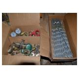 1 BOX OF ASSORTED OXYGEN AND ACETYLENE GAUGES, 1 B