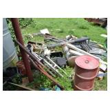 ALL METAL SCRAP IN BACKYARD INCLUDING CONTENTS OF