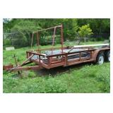 16 FOOT TANDEM AXLE TRAILER (CONTENTS NOT INCLUDED