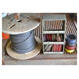 SPOOLS OF ASSORTED WIRE