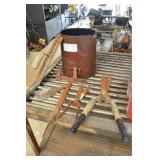 METAL BUCKET WITH OLD TOOLS