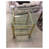Glass Top End Table, 24x20