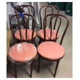 4- Bentwood Straight Chairs