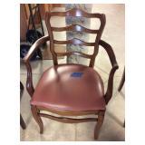 Ladder Back Arm Chair With Wear