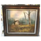 Artist Signed Oil On Canvas 32 X 27