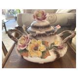 Italy Porcelain Handled Pot