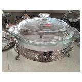 Glass Covered Dish With Stand