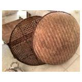 Wicker Basket With Lid 30 Inch