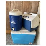 Two Coolers And Drink Dispenser