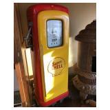 Martin& Schwartz Super Shell gas pump