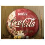"48"" Coca-Cola button sign"