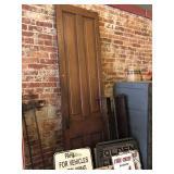 93x26 wooden door