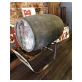 56 Gallon metal tank