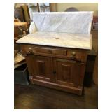 Victorian Marble top Commode