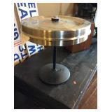 Ticket holder stainless top, cast base 17 in dia,